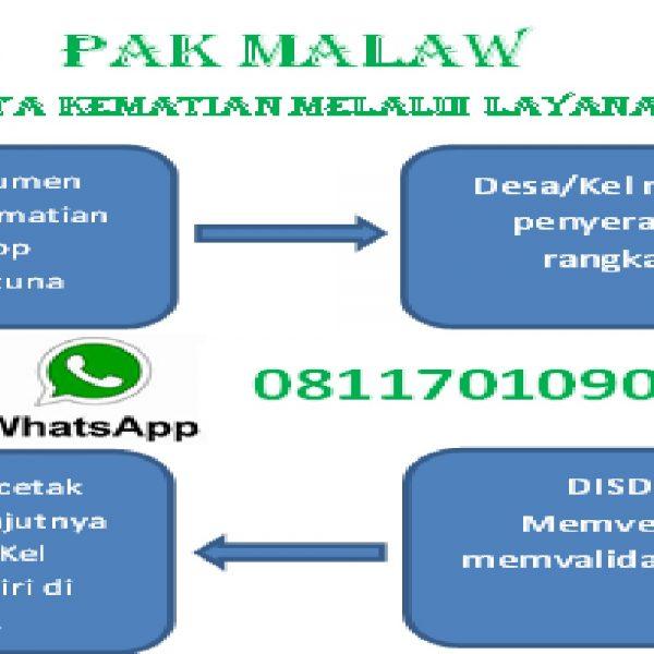 Penerbitan Pembuatan Akta Kematian Melalui Layanan Whatsapp ( PAK MALAW)
